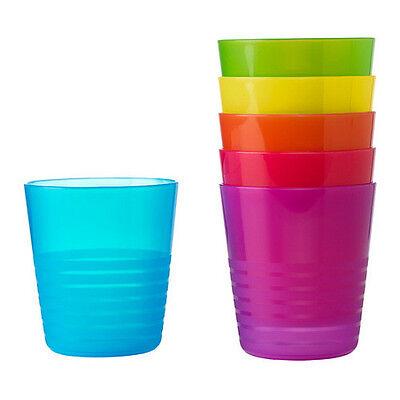 IKEA set 6 tumbler kids cup birthday party multi color dinnerware BPA free KALAS