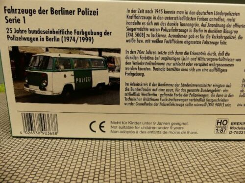 1//87 Brekina VW T2 Fahrzeuge der Berliner Polizei Serie 1 90368