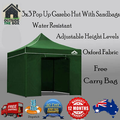 official photos 38595 4b01a Instahut 3x3m Outdoor Gazebo Folding Marquee New Tent Sports Shade Pop Up  Party 9350062087251 | eBay