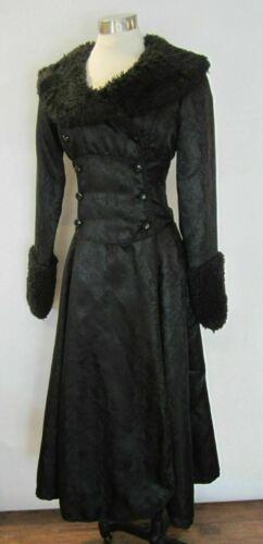 LIP SERVICE Vintage Black Brocade Gothis Duster Co