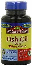 Nature Made Fish Oil 1000 mg 300 mg OMEGA-3, 90-Count