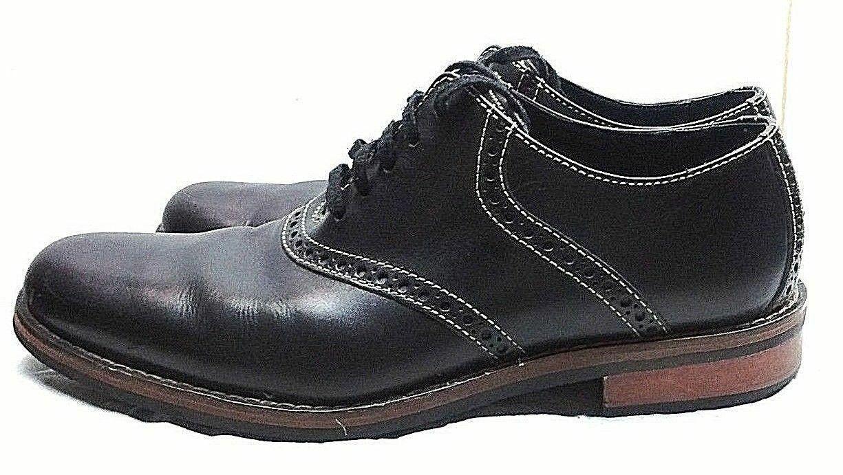 Cole Haan Colton Noir en Cuir Selle Oxford Lacets Plain Toe Hommes Chaussures 8.5 M 42