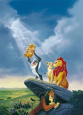DISNEY Tangled Frozen Lion King Beauty /& the Beast  A5 A4 A3 Textless Poster