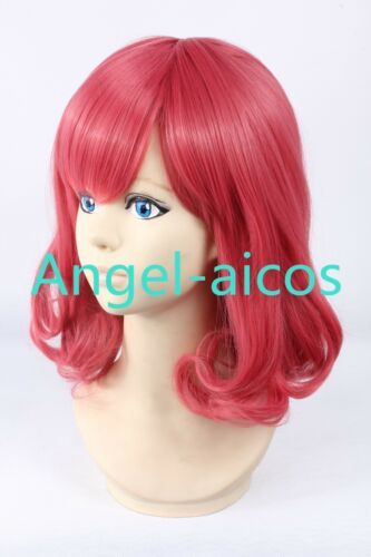 New Noragami Ebisu Kofuku Girl Red Curly Costume Party Thanksgiving Cosplay Wig