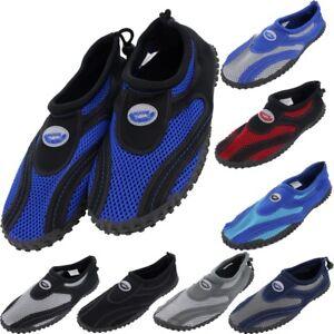 Mens-Water-Shoes-Aqua-Socks-Yoga-Exercise-Pool-Beach-Dance-Swim-Slip-On-Surf-NEW