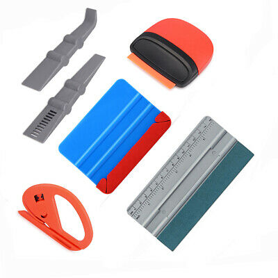 5in1 Wallpaper Sticker Vinyl Wrapping Tools Kit Plastic Squeegee Snitty Cutter