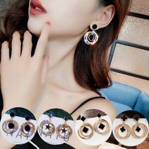 S925-Needle-Crystal-Rhinestone-Earrings-Party-Drop-Dangle-Ear-Pierced-Studs-New