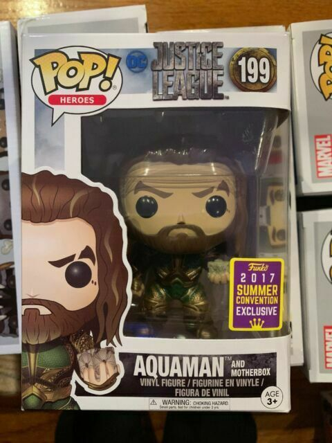 Funko POP Aquaman and Motherbox DC Justice League #199 Convention Exclusive