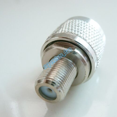 1X N Male Plug TO F Female Jack RF Connector Converter Adapter Zinc alloy