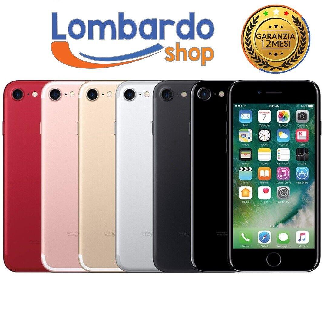iPhone: IPHONE 7 RICONDIZIONATO 128GB GRADO B BIANCO NERO ORO ROSA RED APPLE RIGENERATO