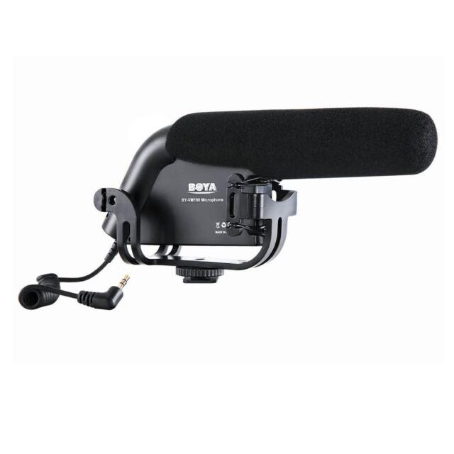 Boya BY-VM190 Shotgun Microphone with Cold Shoe+3.5mm Audio Plug for DSLR Camera
