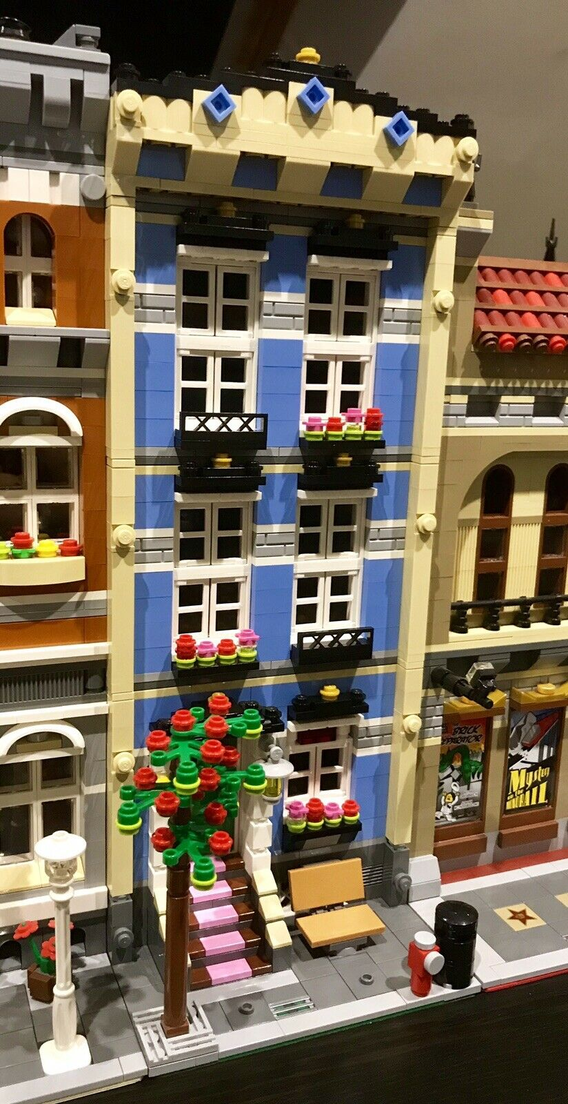 LEGO CUSTOM MODULAR BUILDING TOWN HOUSE fits with 10218 10246 10251 MOC 466