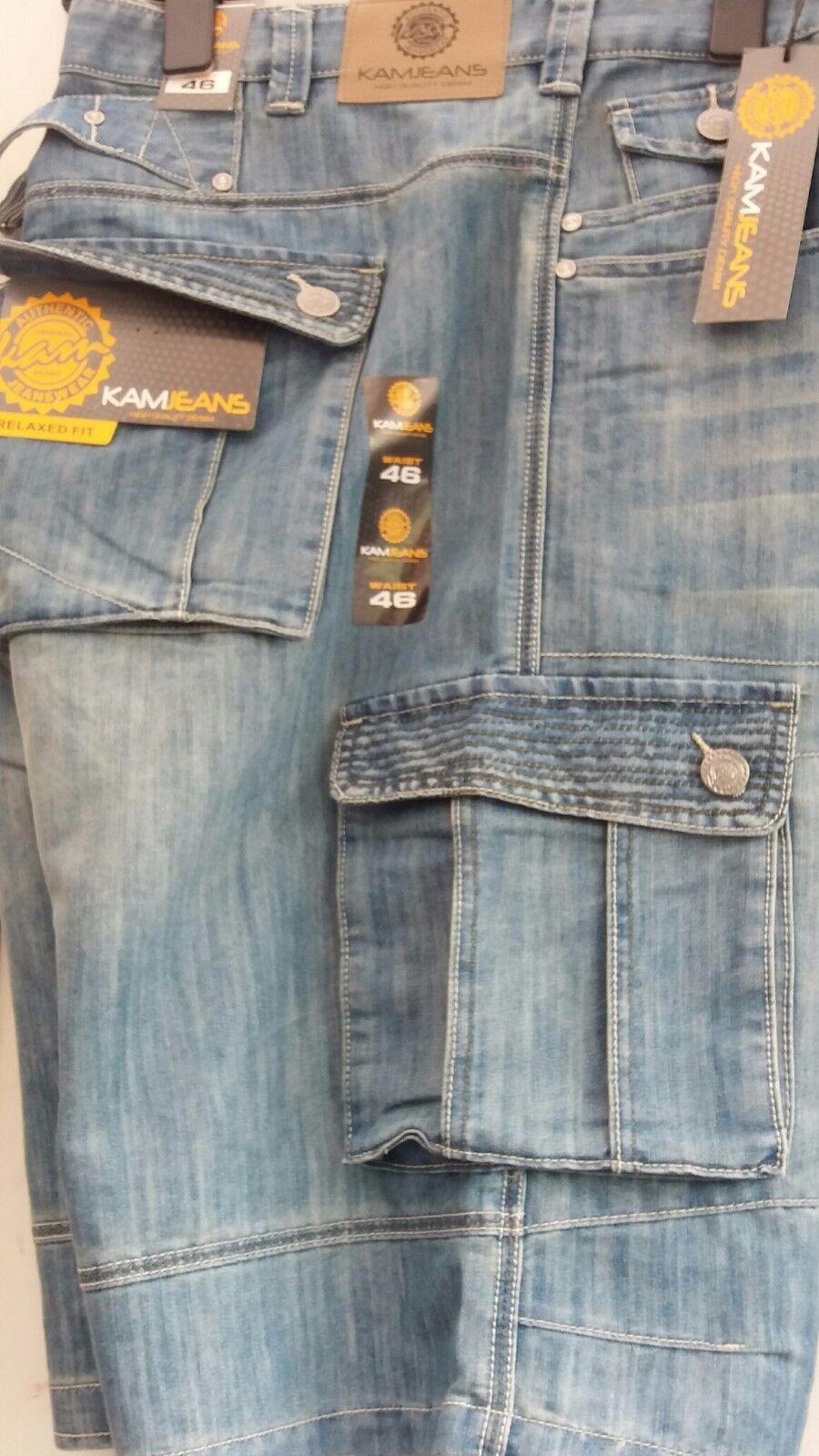 Kam Mario Grande Tamaño King Size Lavado Suave Pantalones Cortos, 102cm42 44 46