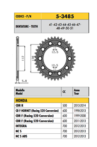 5-3485-CORONA-ERGAL-PASSO-520-HONDA-1000-VTR-F-Racing-520-Conversion-2001-2002
