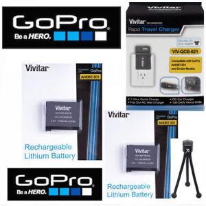 2X-Battery-for-GoPro-HERO7-BLACK-AABAT-001-CHARGER-110-220V-CAR-PLUG-TRIPOD