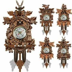 New-Classic-Vintage-Cuckoo-Clock-Forest-Quartz-Swing-Wall-Alarm-Handmade-Decor