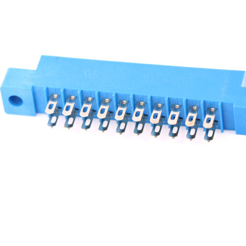 1x Card edge connector double row 2x10 20 Pin 3.96mm pitch slot solder socket NV