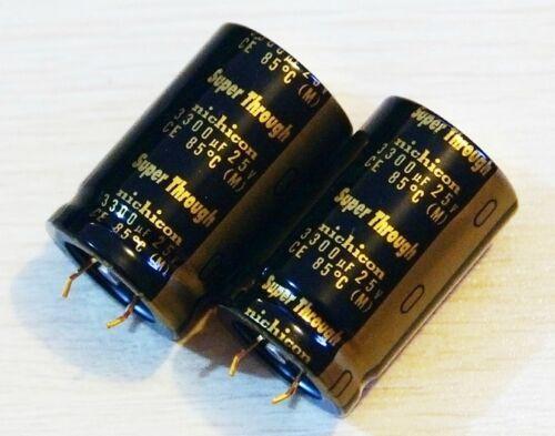 1p Nichicon 25V 3300UF KG Type-III Super Through Audio HI-FI Snap-in Capacito