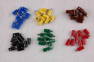 Stck-23-25-ct-60-Stecker-Muffen-rund-2-6mm-sortiert-NEU