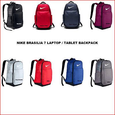 "Nike BRASILIA 19/"" Laptop Tablet Backpack  X-Large 30L Platinum Gray Graphics"