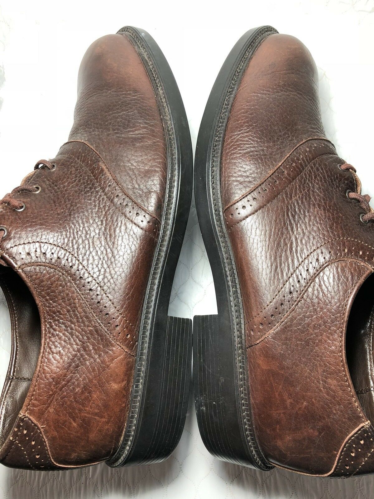 Marrón Con De Oxford Zapatos Sebago Cuero Hombre Cordones Vestir K3F1cJTl