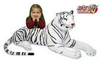 White Tiger Plush Large Giant Jumbo Huge Soft Realistic Toy Kids Child Gift Doll