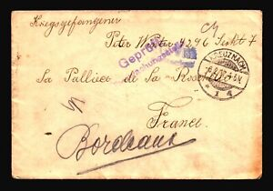 Germany-1917-POW-Cover-Censor-KREUZNACH-CDS-Z14436