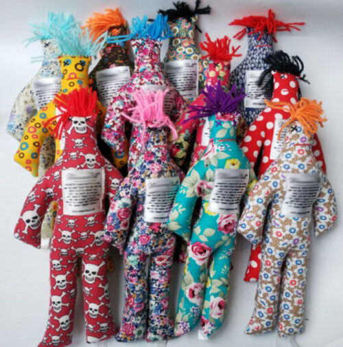"""Hot sale Random Pattern Color Stress Relief 12/"""" Dammit Doll Plush Toy Gift"""