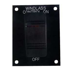 Windlass Helm Rocker Switch On / Off Control Panel Lighted #1001631 Carling 12V