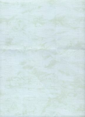 Zweigart 32ct Belfast Linen Cross Stitch Fabric Vintage Green size 61 x 70cms