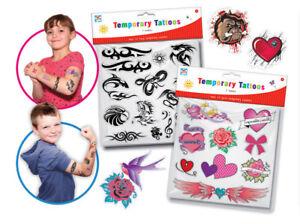 50-Design-Fake-Pretend-Children-Temporary-Tattoos-Girls-Boys-Partybag-Gift-Kids