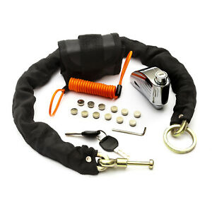 Target-Motorbike-Brake-Disc-Lock-Alarm-amp-Armoured-Chain-Loud-Siren-5-Yr-Warranty