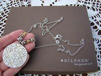 Silpada Sterling Silver, Brass, Reversible sundial Long Necklace N3100 $129