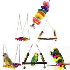 Pet Bird Parrot Parakeet Budgie Cockatiel Cage Hammock Swing Hanging Chew Toy