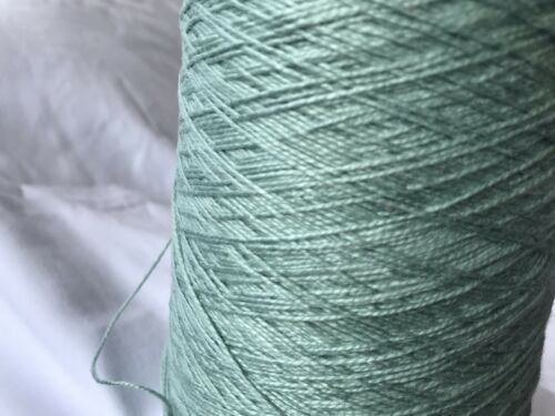 100/% Soft Mercerised Cotton Yarn On 500gram Cone In Mint Green 4 Ply Knitting.