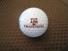 LOGO GOLF BALL-TEXAS A&M TRADITIONS GOLF CLUB...PRACTICE BALL...TEXAS