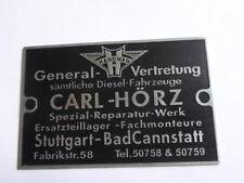 Typenschild Schild Hanomag R 40 45 55 16 28 ST ss 20 100 Hörz Händlerschild S27