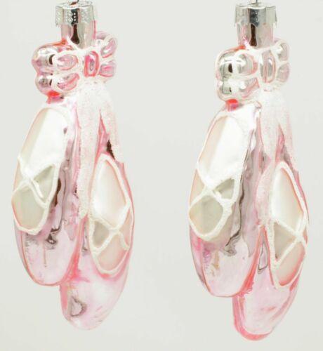Ballettschuh Christbaumschmuck Ballerina Christbaumkugel rosa 2er Set