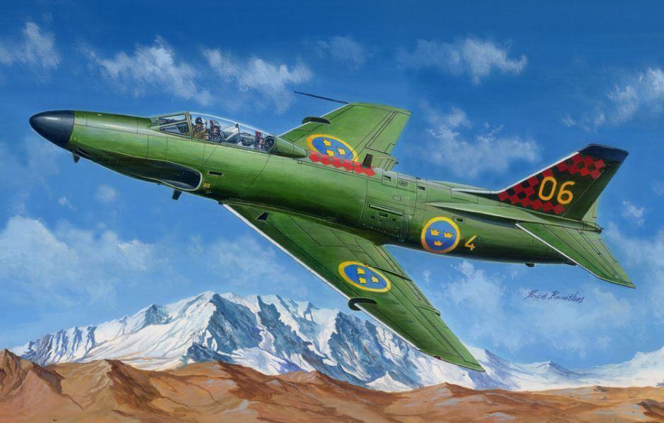 Hobby Boss 81752 avión Saab J-32B E entrenador ataque bombardero Modelo 1 48 Escala