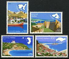 Greece 1187-1190, MNH. Greek Aegean Islands: Lemnos, Lesbos, Chios, Samos, 1976