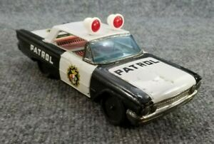 VINTAGE-1960s-TIN-LITHO-FRICTION-TOY-FORD-POLICE-CAR