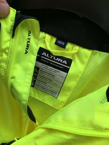 Details about  /Altura Nightvision  Womens Cycling Jacket Yellow Waterproof SIZE 14 NEW FREE P