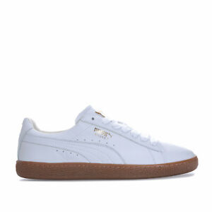 Details about Mens Puma Basket Classic Gum Deluxe Trainers In White Gold