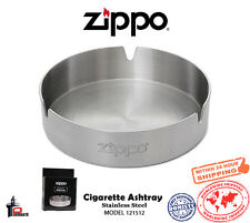 "Zippo Ashtray 4"" Stainless Steel with the Zippo Logo - 3 Cigarette Rests 121512"