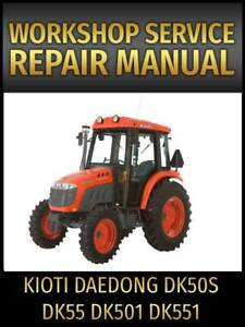 kioti maintenance manual