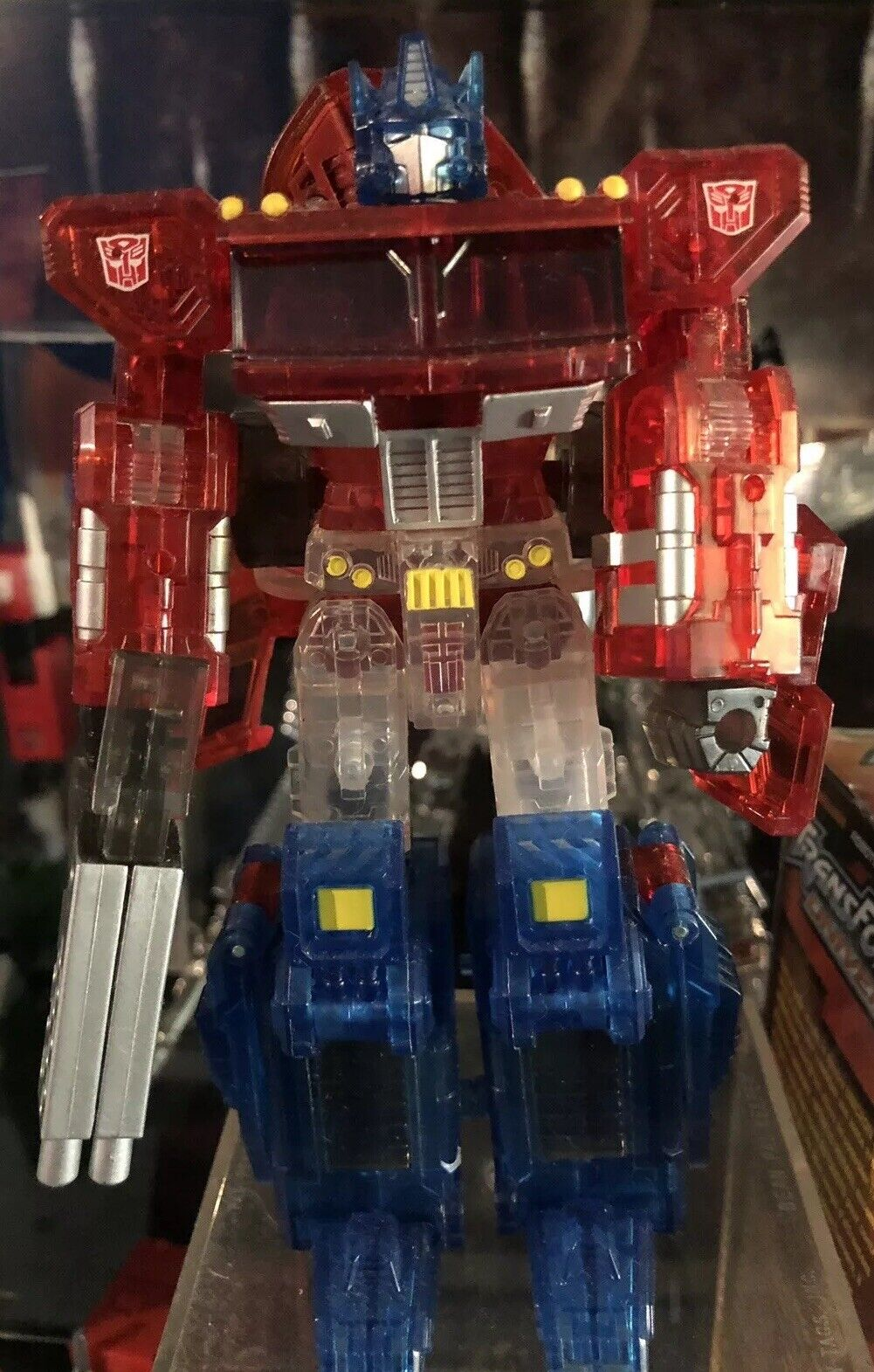 Takara Transformers Henkei Crystal Convoy Clear Version Optimus Prime