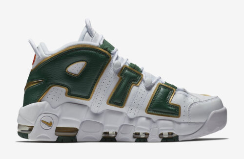 Nike Air More Uptempo ATL QS White Green Gold Size 8.5. AJ3139-100 Jordan Pippen supplier