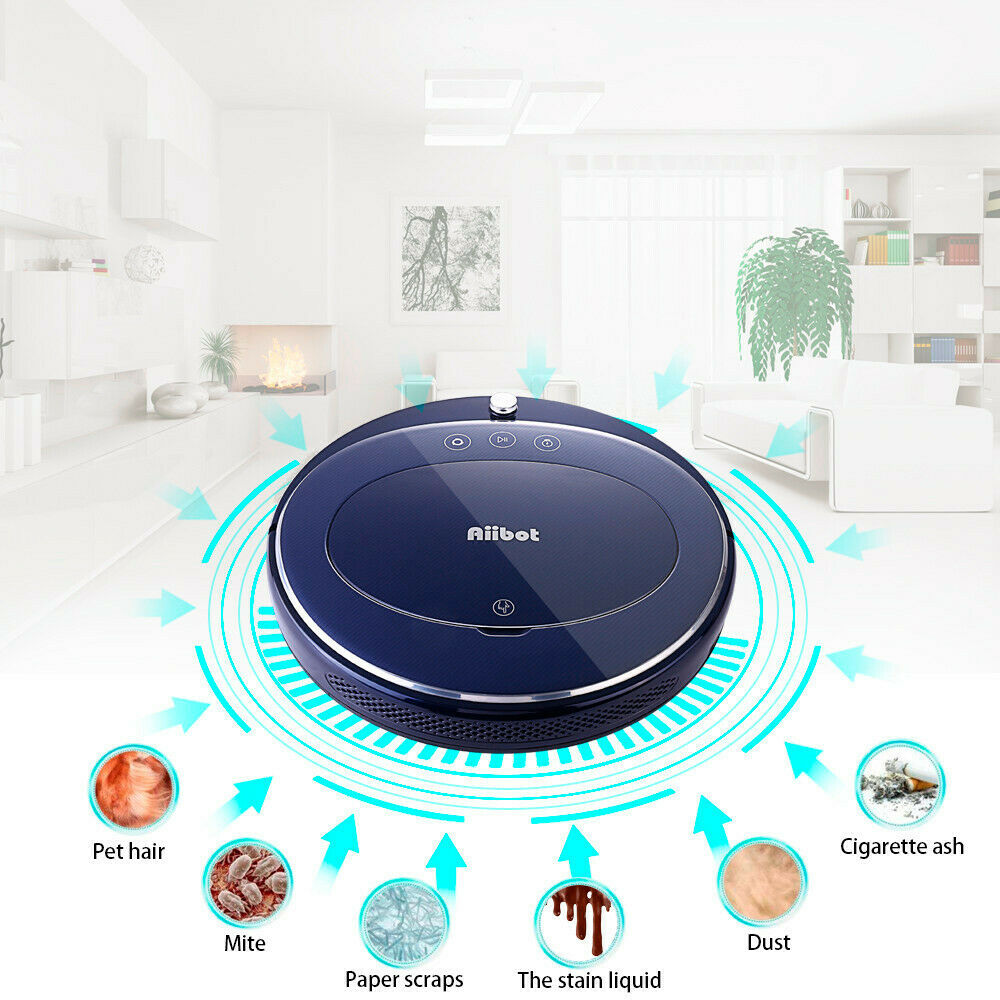 Low Noise Intelligent Vacuum Cleaner Sweeping Robot Self-refilling Four Cleaning