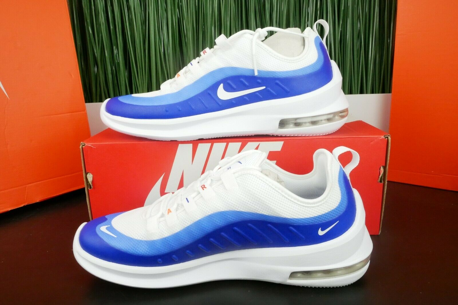 Nike Air Max Axis Premium Racer bluee White Running shoes AA2146-104 Size 8