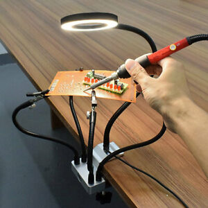Tercera-Mano-Pinza-Brazo-Flexible-Sujecion-Soldadura-Lupa-Aumento-3X-Luz-LED-USB